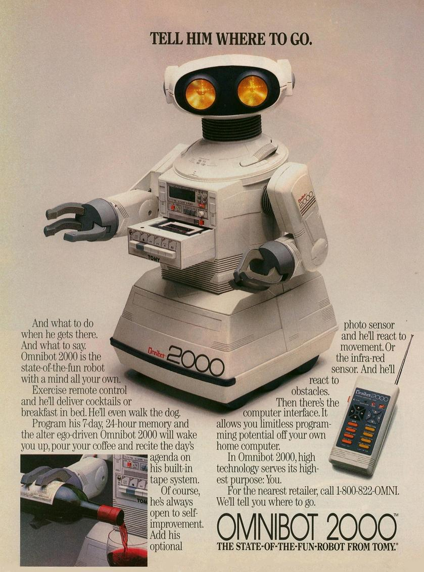 Advert for Omnibot
